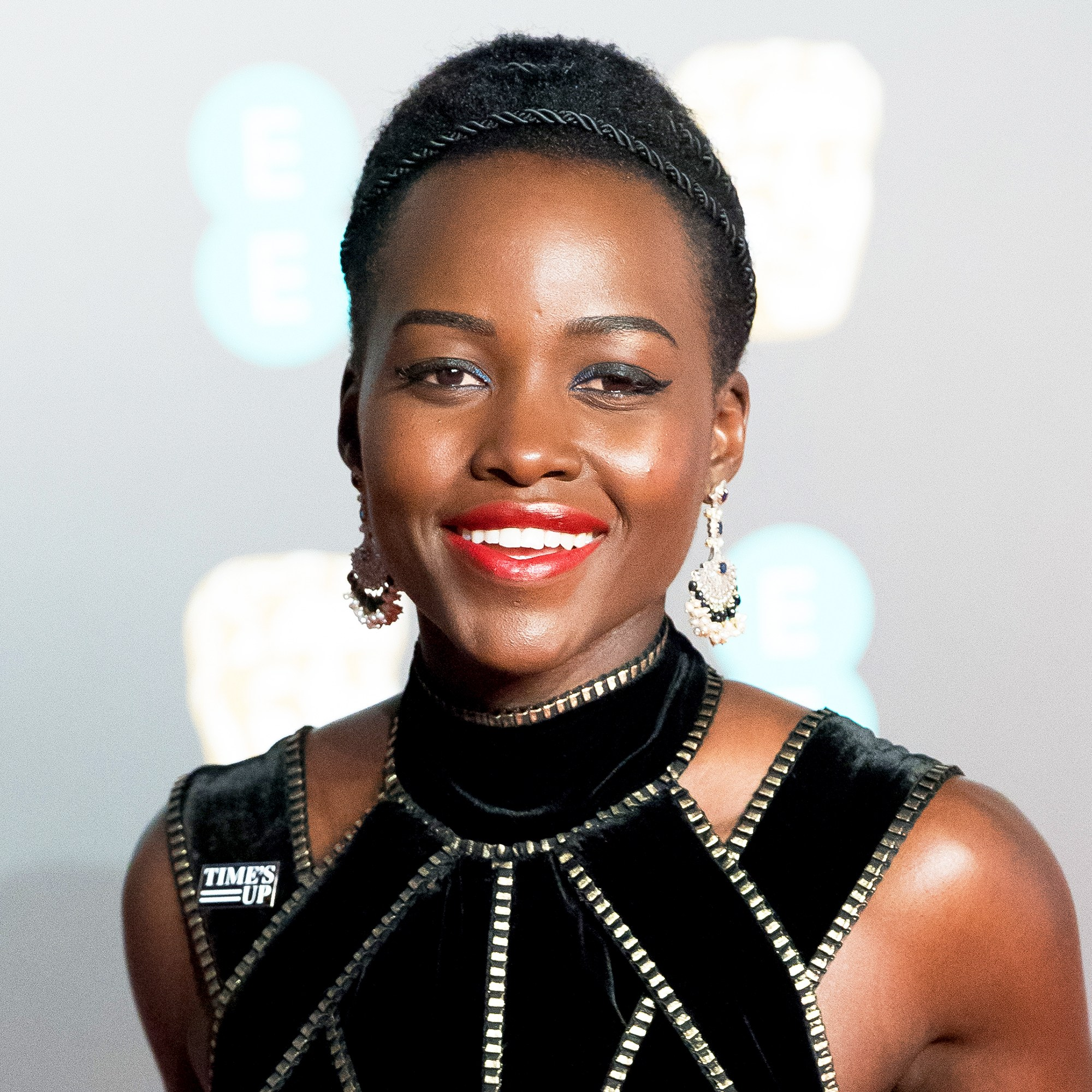 Lupita Nyong'o attends the EE British Academy Film Awards held at Royal Albert Hall on February 18, 2018 in London, England.